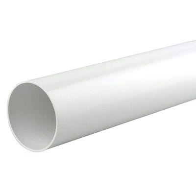 40mm Polypipe Waste Pipe 3000mm White ABS WS12W