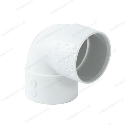 32mm Polypipe 90° Waste Knuckle Bend White ABS WS15W