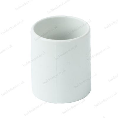 32mm Polypipe Waste Straight Coupling White ABS WS25W