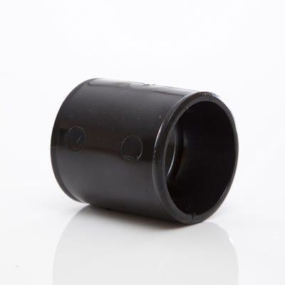 40mm Polypipe Waste Straight Coupling Black MuPVC MU210B
