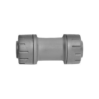 15mm Polypipe Polyplumb Straight Coupler Grey PB015