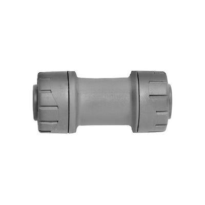 22mm Polypipe Polyplumb Straight Coupler Grey PB022