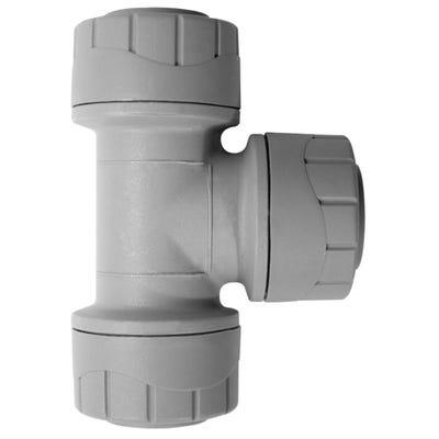 22mm Polypipe Polyplumb Equal Tee Grey PB222
