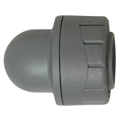 15mm Polypipe Polyplumb Socket Blank End Grey PB1915