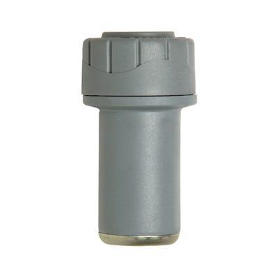 22mm x 15mm Polypipe Polyplumb Socket Reducer Grey PB1822