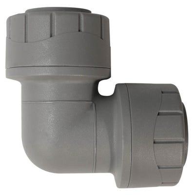 28mm Polypipe Polyplumb Elbow Grey PB128