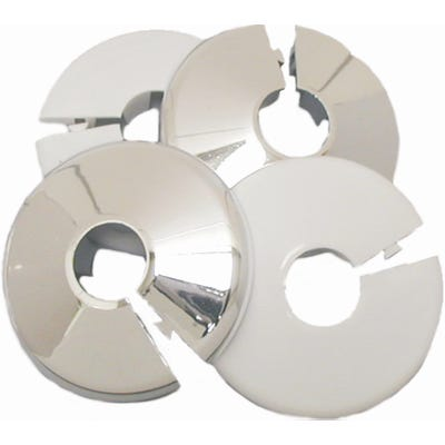 Pipe & Cover Plates Chrome Pair 15mm