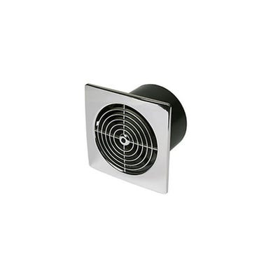 Manrose 100mm / 4'' Chrome Timer Extractor Fan Adjustable Electric Timer