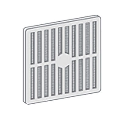Manrose 229mm x 76mm White PVC Fixed Vent