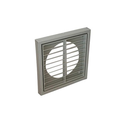 Manrose 100mm / 4'' Grey Fixed Louvered Multifit Grille Round / Rectangular