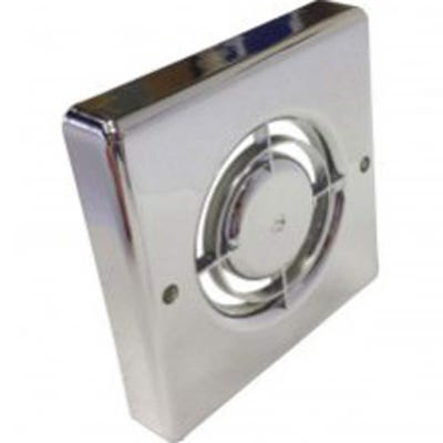 Manrose 100mm / 4'' Chrome Front Cover For XF Fan Range