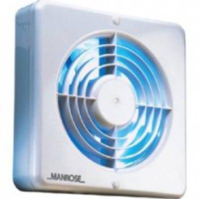 Manrose Kit 100mm / 4'' White Timer Extractor Fan Pack Bathroom Toilet