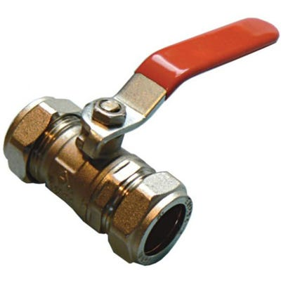 Red Lever Ball Valve 15mm