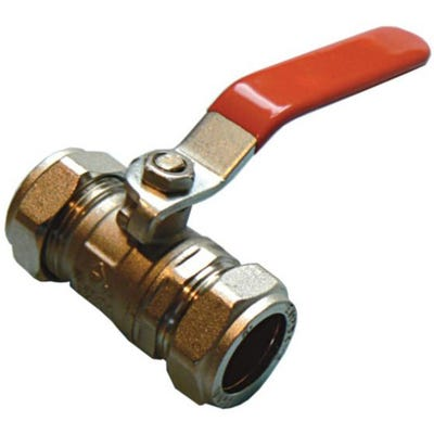 Red Lever Ball Valve 22mm