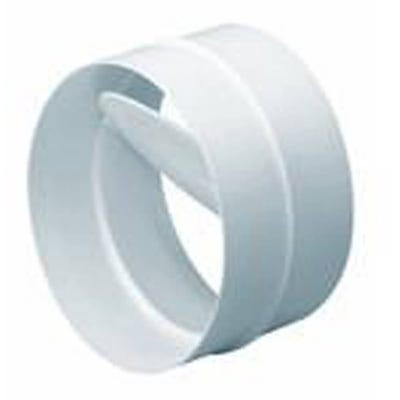 Manrose 100mm / 4'' Round Ducting Conn/PVC With Back Draft Shutter