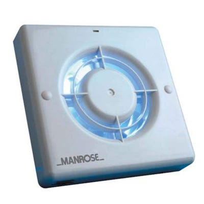 Manrose 12V Timer Fan & Transformer XF100LVT 100mm / 4''
