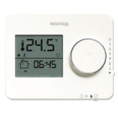 Warmup Tempo Programmable Thermostat Porcelain White