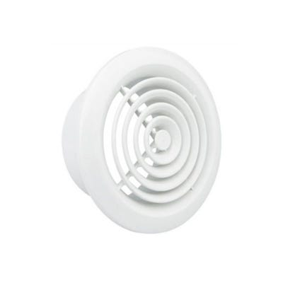 Manrose 100mm / 4'' Internal Circular Grille White R2100W