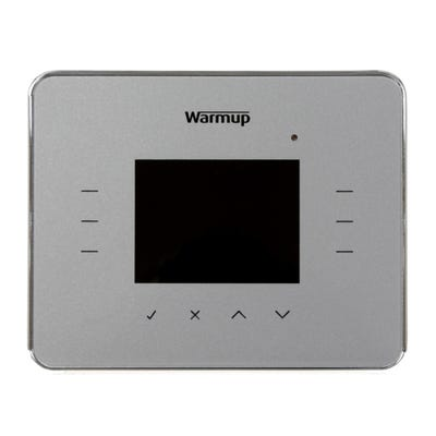Warmup 3iE Energy Monitor Thermostat Silver Grey