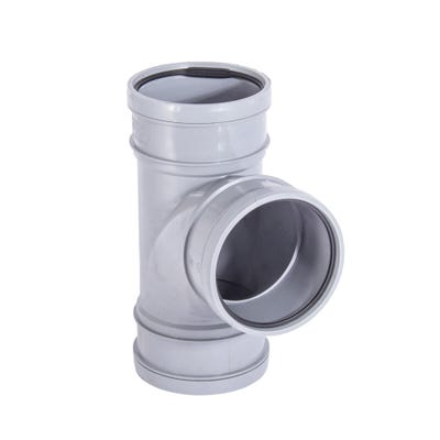 110mm Polypipe 92.5° Equal Branch Triple Socket Grey ST405G