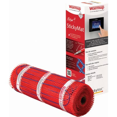 Warmup StickyMat 150W Electric Underfloor Heating System 6m²
