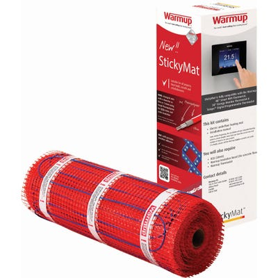 Warmup StickyMat 200W Electric Underfloor Heating System 6m²