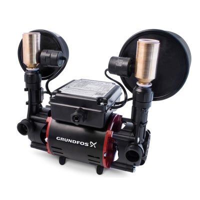 Grundfos 1.5 Bar Universal Twin Impeller Regenerative Shower Pump