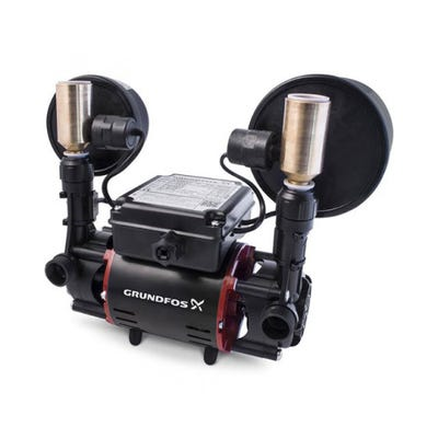Grundfos 2.0 Bar Universal Twin Impeller Regenerative Shower Pump