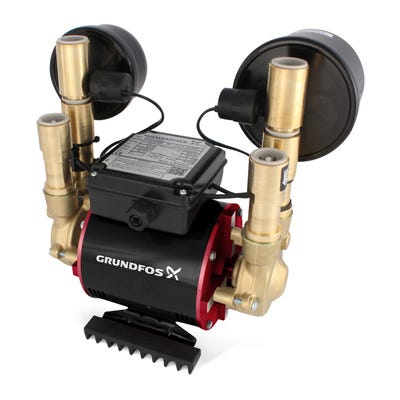 Grundfos Amazon 4.0 Bar Universal Twin Impeller Shower Pump