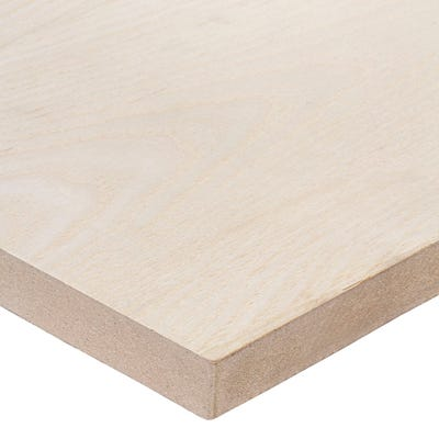 19mm Ash Veneered MDF Board A/B Grade 2440mm x 1220mm (8' x 4')