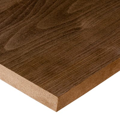 19mm American Black Walnut Veneered MDF Board A/B Grade 2440mm x 1220mm (8' x 4')