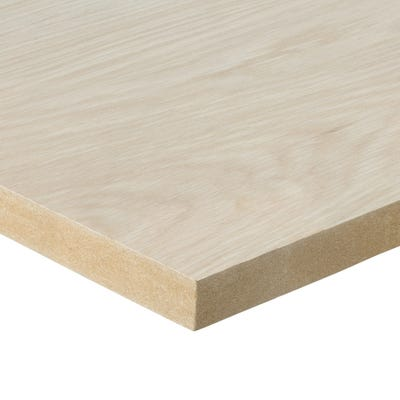19mm American White Oak Veneered MDF Board A/B Grade 2440mm x 1220mm (8' x 4')