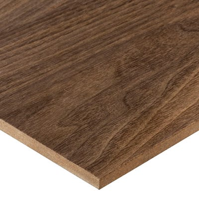 6mm American Black Walnut Veneered MDF Board A/B Grade 2440mm x 1220mm (8' x 4')