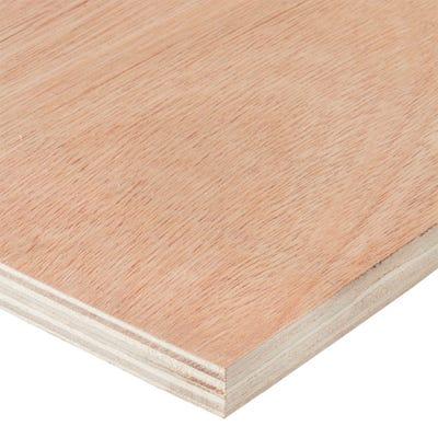 12mm Hardwood External Grade Plywood B/BB 2440mm x 1220mm (8' x 4') Pack of 75