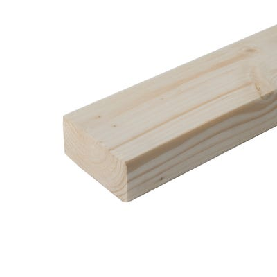 47mm x 100mm Structural Graded C24 Sawn Carcassing Timber 3600mm (4'' x 2'')