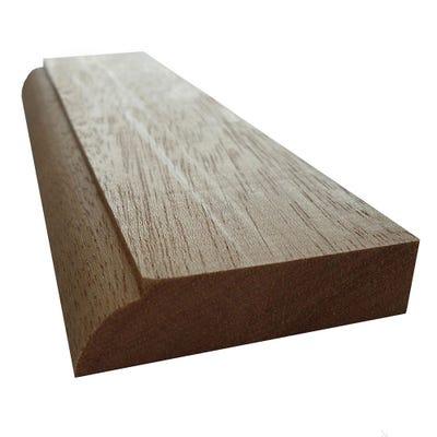 12mm x 45mm Hardwood Meranti Ovolo Door Stop (2'' x 0.5'')