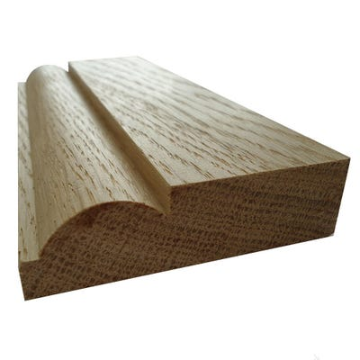 20mm x 68mm Hardwood American White Oak Torus Architrave