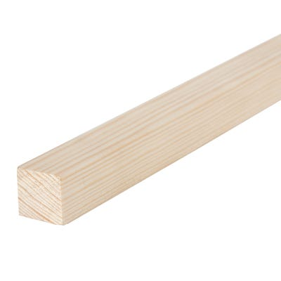 25mm x 25mm Planed Softwood PAR Timber (1'' x 1'') Finish 20.5mm x 20.5mm