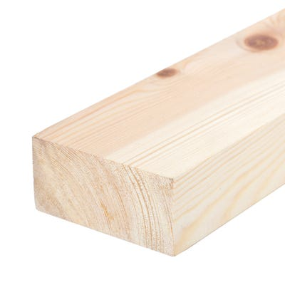 38mm x 75mm Planed Softwood PAR Timber (3'' x 1.5'') Finish 33mm x 69mm