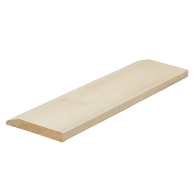 19mm x 100mm Softwood Chamfered & Pencil Round Reversible Skirting (Finish 14.5mm x 94mm)