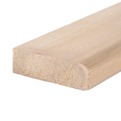 19mm x 75mm Softwood Chamfered & Round Reversible Architrave