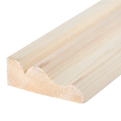25mm x 63mm Softwood Ogee Architrave (Finish 20.5mm x 57mm)