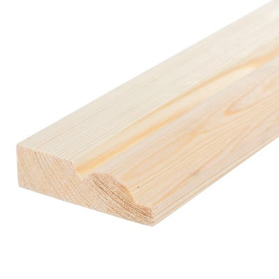 25mm x 75mm Softwood Torus Architrave