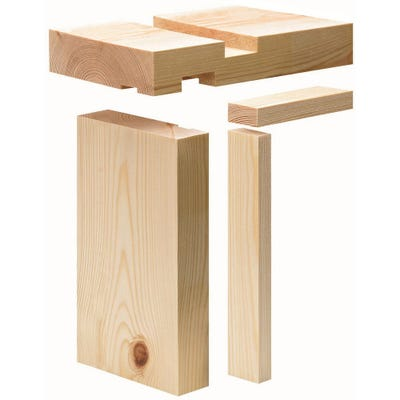 32mm x 115mm Softwood Door Lining Set With Stops (4.5'' x 1.25'')