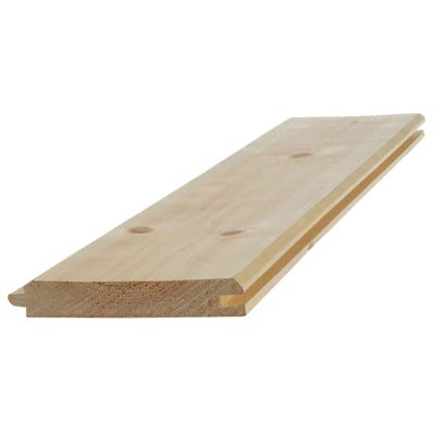 19mm x 100mm Softwood Tongue & Groove V Cladding (Finish 14.5mm x 94mm)