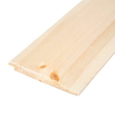 19mm x 125mm Softwood Shiplap Cladding (Finish 14.5mm x 119mm)