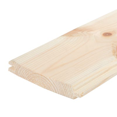 22mm x 150mm Softwood Tongue & Groove Whitewood Flooring (6'' x 1'')