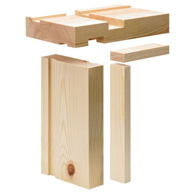38mm x 115mm Softwood Fire Check Door Lining Set 15mm Rebate (4.5'' x 1.5'')
