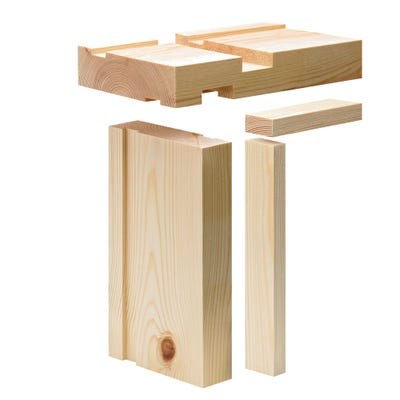 38mm x 140mm Softwood Fire Check Door Lining Set 15mm Rebate (5.5'' x 1.5'')