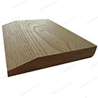 20mm x 130mm Hardwood American White Oak Chamfered & Pencil Round Reversible Skirting